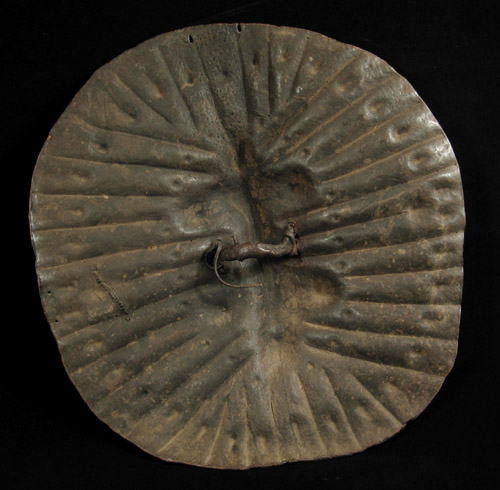 African Tribal Art - Hide shield, Arussi, Ethiopia, back view