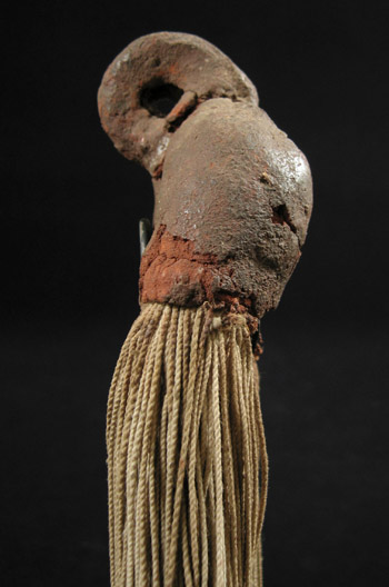 African Tribal Art - String cache-sex, Kirdi, Cameroon, side detail