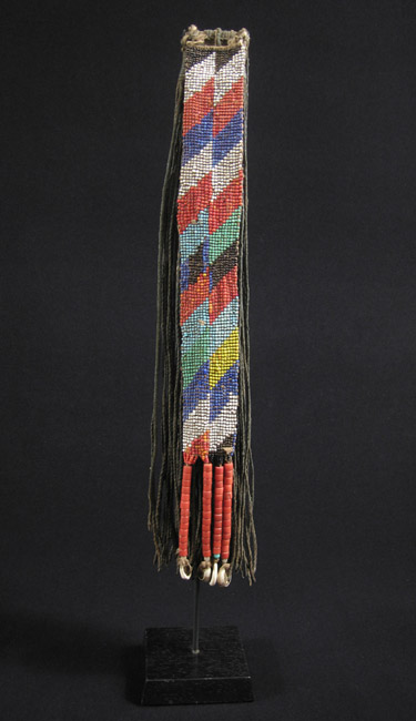 African Tribal Art - Beaded cache-sex, Kirdi, Cameroon