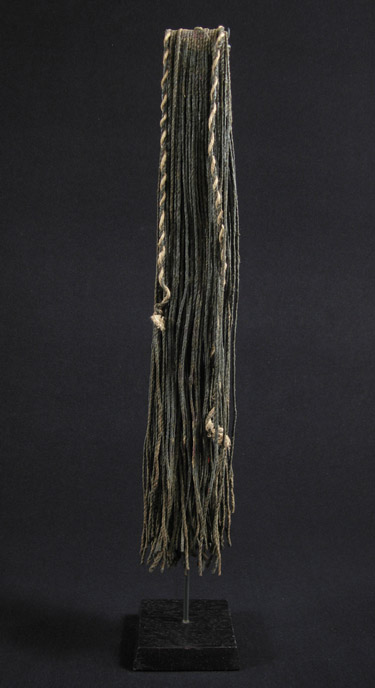 African Tribal Art - Beaded cache-sex, Kirdi, Cameroon, back view
