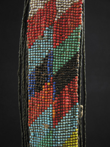African Tribal Art - Beaded cache-sex, Kirdi, Cameroon, detail