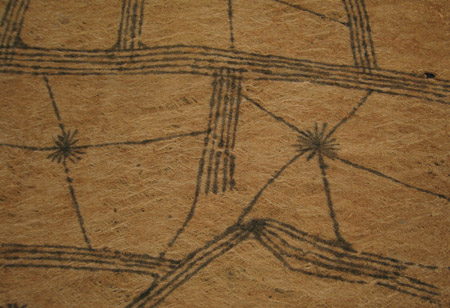 African Tribal Art - Barkcloth, Mbuti people, D. R. Congo, detail