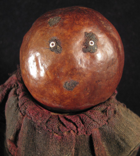 African Tribal Art - Gourd doll, Ambo people, Angola, face
