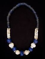 Glass bead necklace, South Africa