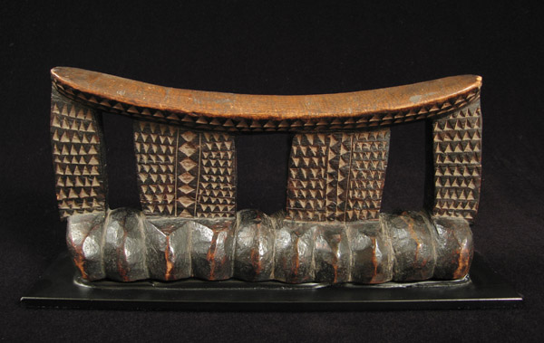 African Tribal Art - Headrest, Zulu, South Africa