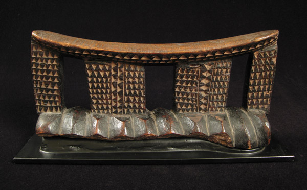 African Tribal Art - Headrest, Zulu, South Africa, back