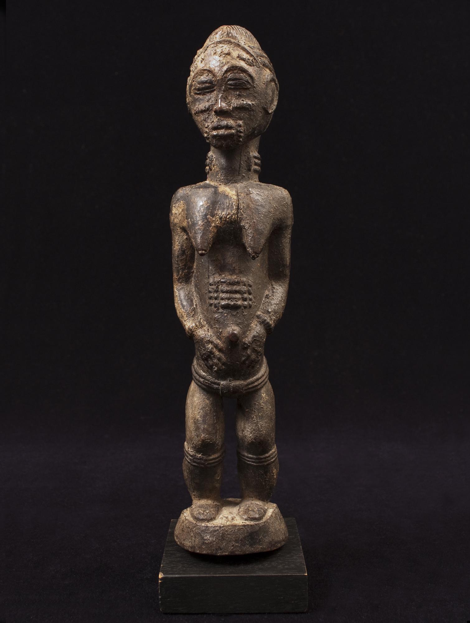 African Tribal Art - Female figure, Baule, Ivory Coast ...