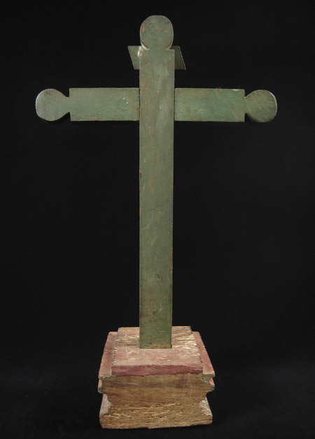 Art of the Americas - Wood cross, Merida, Yucatan, Mexico, back