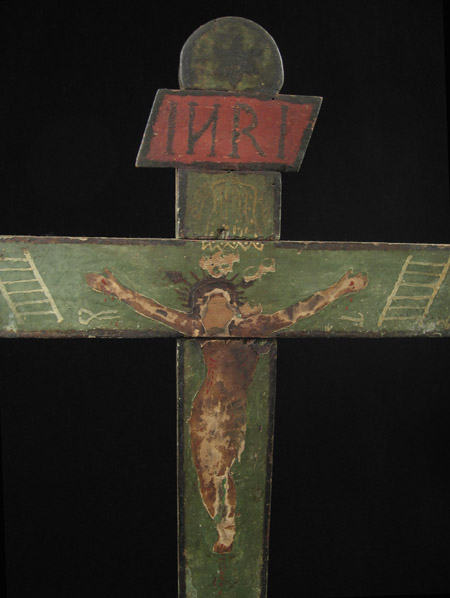 Art of the Americas - Wood cross, Merida, Yucatan, Mexico, detail