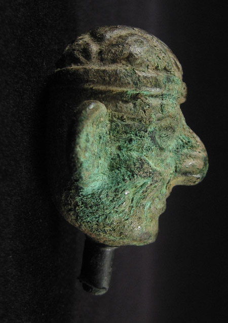 Art of the Americas - Copper head, Moche, Peru, left
