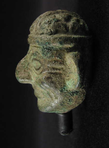 Art of the Americas - Copper head, Moche, Peru, right