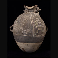 Large ceramic vessel, Chancay culture, Peru