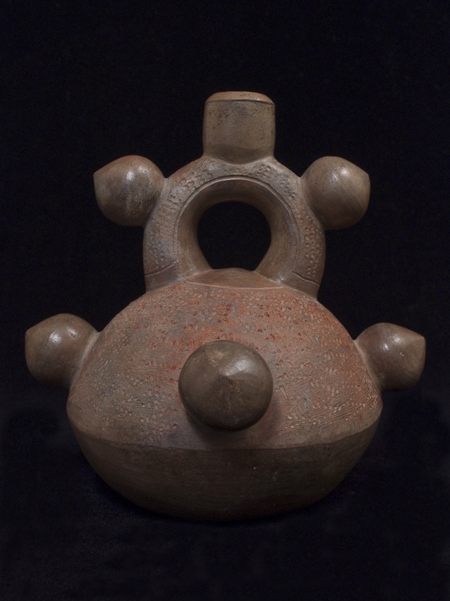 Stirrup spout vessel, Chavin culture, Peru