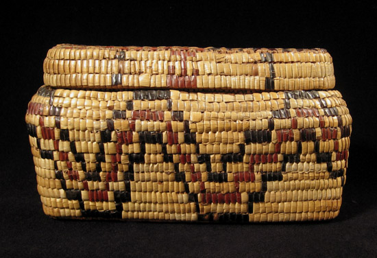 Art of the Americas - Imbricated basket, Columbia River, back