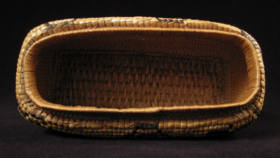 Art of the Americas - Imbricated basket, Columbia River, inside