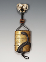 Inro with Serpent, Japan