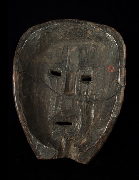 Mask, Middle Hills, Nepal - back view
