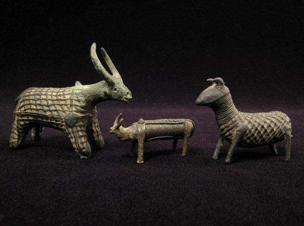 Asian Tribal Art - Bronze animal figures, Kondh, Orissa, India
