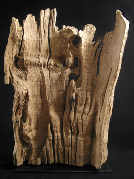 Asian Tribal Art - Scholar's wood fragment, China, back