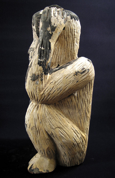 Asian Tribal Art - Wood monkey, Thailand, right