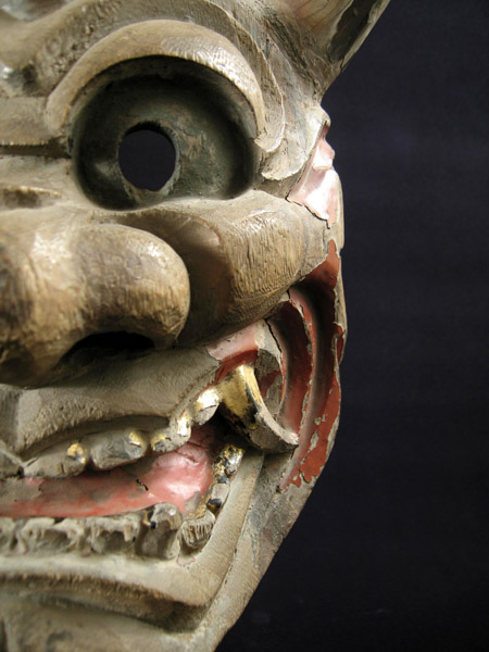 Asian Tribal Art - Hanya mask, Japan, detail