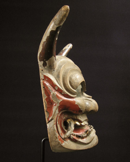 Asian Tribal Art - Hanya mask, Japan, left