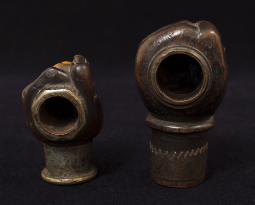 Opium pipe bowls, Yunnan Province, Southwest China - top view