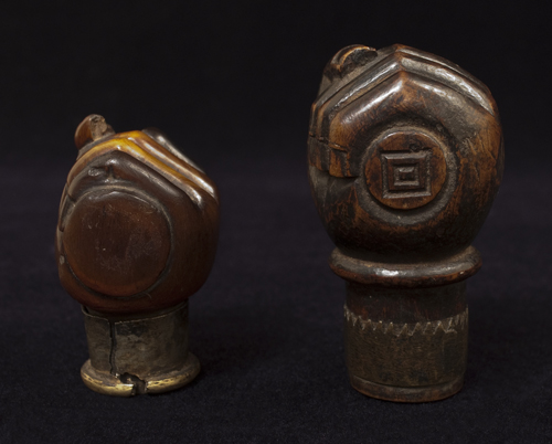 Opium pipe bowls, Yunnan Province, Southwest China - bottom view