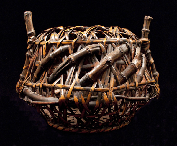 Antique Ikebana Basket, Japan - back view