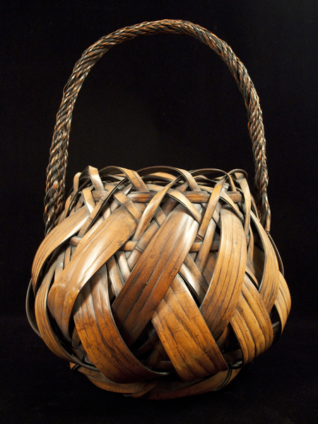 Large antique Ikebana Basket, Japan