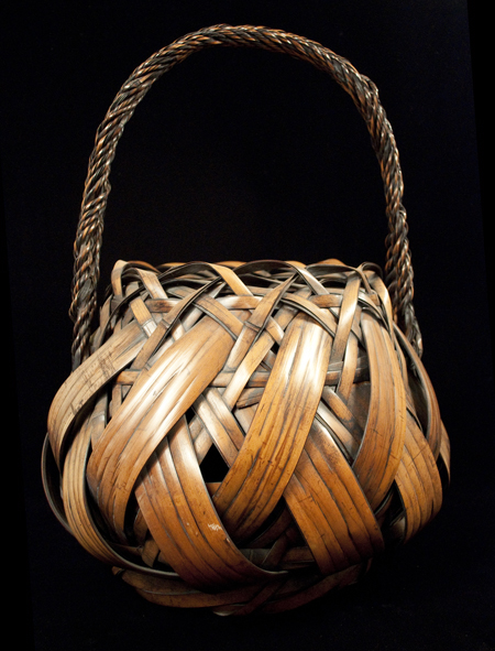 Large antique Ikebana Basket, Japan -  back view