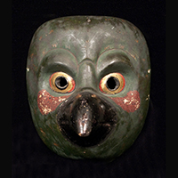 Asian Tribal Art - Karasu Tengu Mask, Japan