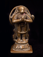 Asian Tribal Art - Bronze Hanuman, India