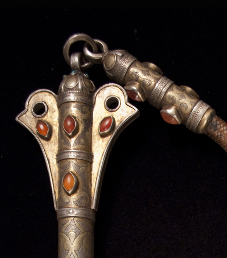 Asian Tribal Art - Quirt, Yamut, Turkoman, Central Asia, detail