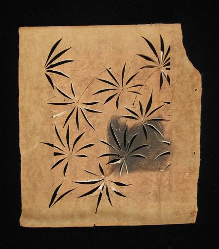 Asian Tribal Art - Paper stencils, Japan, 3 back