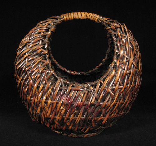 Asian Tribal Art - Moon ikebana basket, Japan