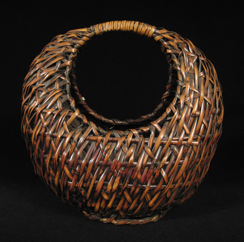 Asian Tribal Art - Moon ikebana basket, Japan, back