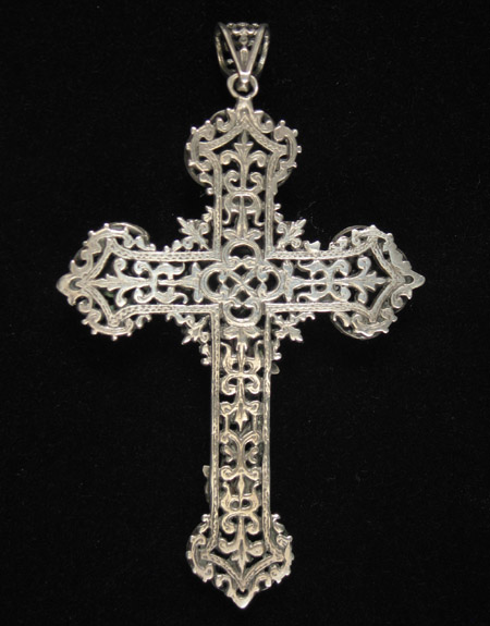 Jewelry Gallery - Large silver crucifix, verso