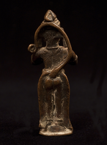 Hanuman Bronze Figure, India, back view