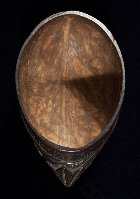 Coconut Drinking Cup, Central America, interior