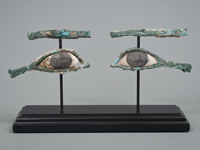 Bronze Sarcophagus Eyes, Ancient Egypt