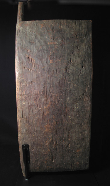 Indonesian Tribal Art - Wood house door, Timor Island, Indonesia, back view