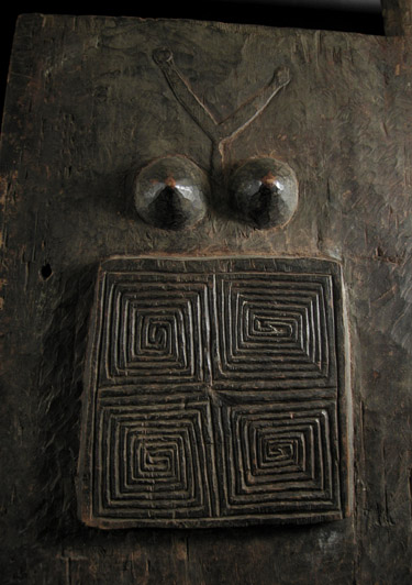 Indonesian Tribal Art - Wood house door, Timor Island, Indonesia, detail