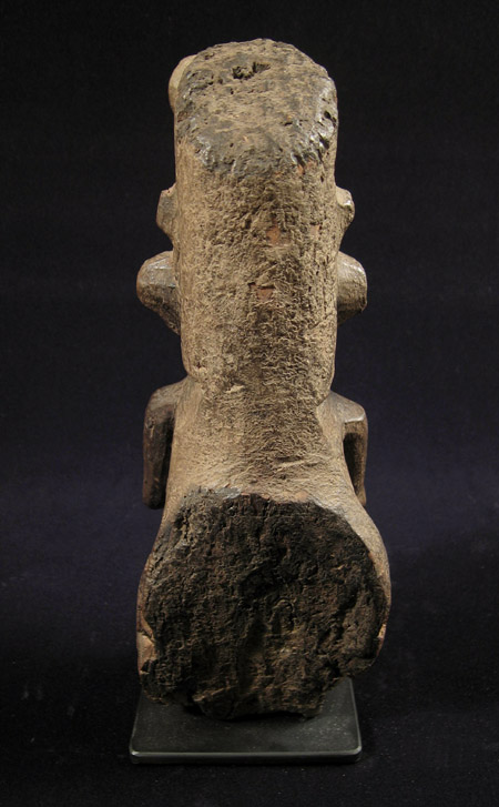 Indonesian Tribal Art - Wood figure, Nias Island, Indonesia, back