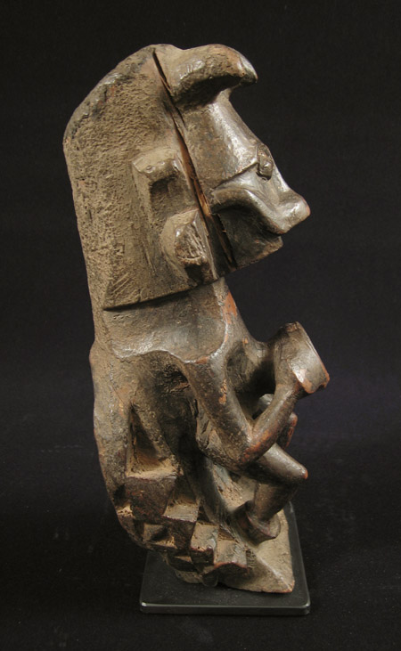 Indonesian Tribal Art - Wood figure, Nias Island, Indonesia, left