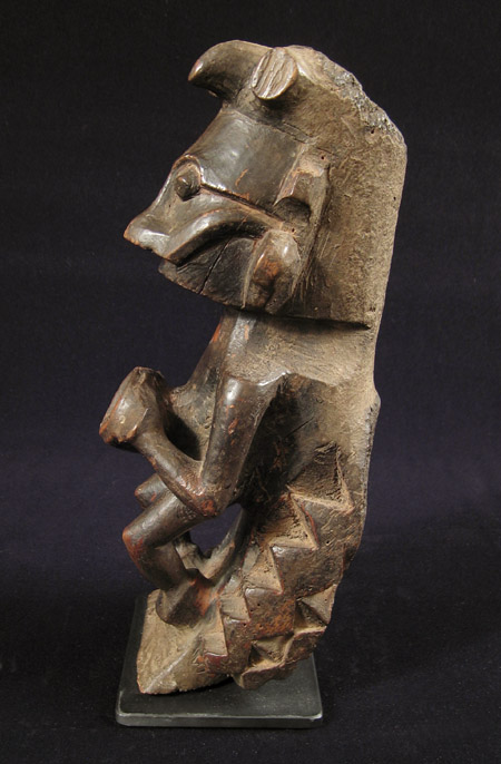 Indonesian Tribal Art - Wood figure, Nias Island, Indonesia, right
