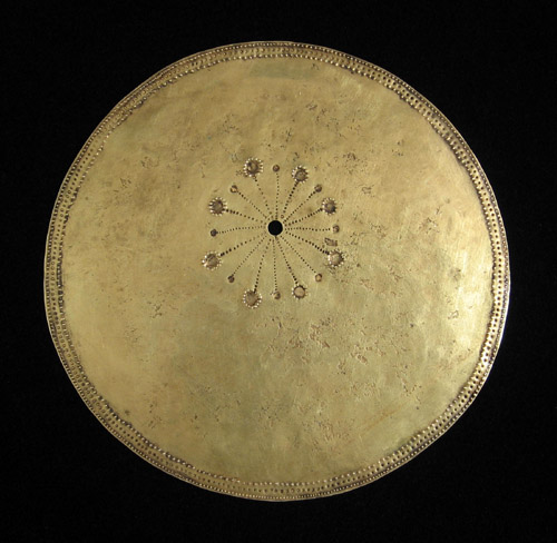 Indonesian Tribal Art - Gold disk pectoral, Timor Island, Indonesia, back view