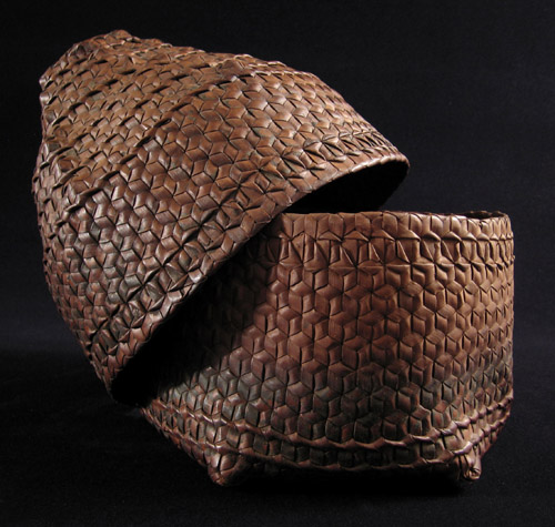 Indonesian Tribal Art - Storage basket, Timor, open
