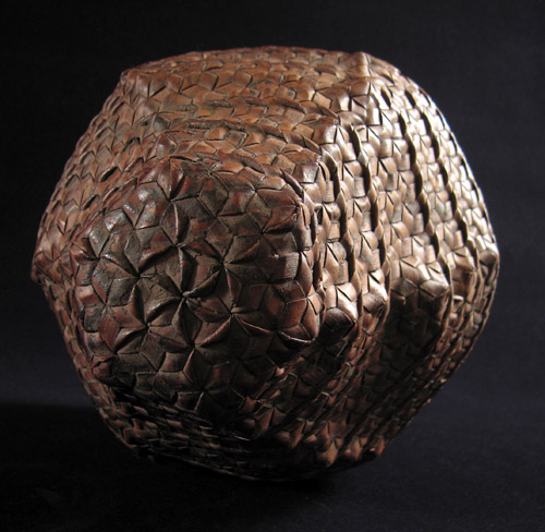 Indonesian Tribal Art - Storage basket, Timor, top
