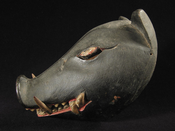 Indonesian Tribal Art - Boar mask, Indonesia